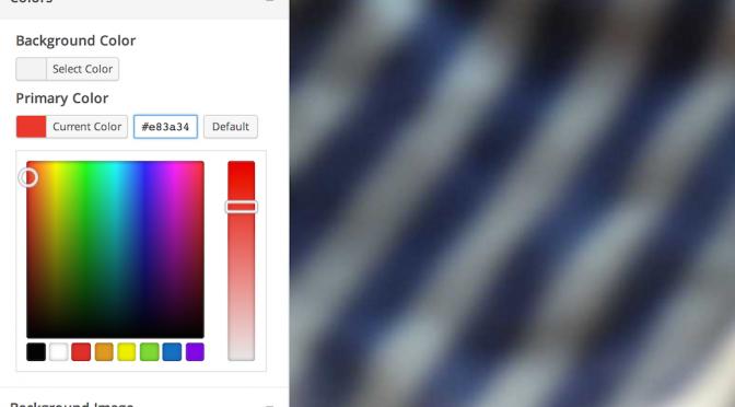 Podgląd zmian kolorów motywu na ekranie personalizacji