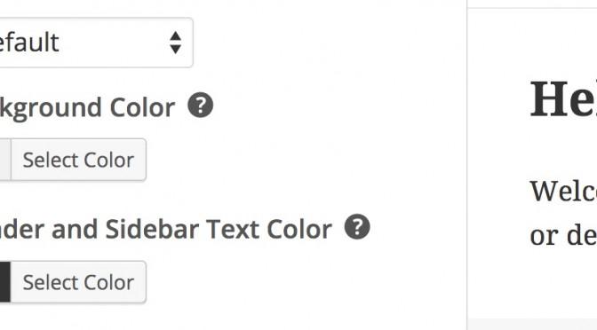 Podpowiedzi zamiast opisów opcji w ekranie personalizacji motywu