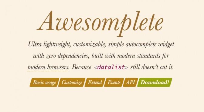 Awesomplete – proste tworzenie pól z podpowiedziami