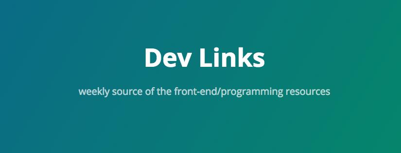 Dev-links – źródło wiedzy o front-endzie i nie tylko